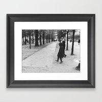 Child Skipping, Jardin D… Framed Art Print