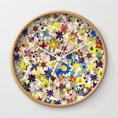Flower Filed Wall Clock