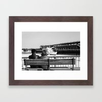 Couple by the Saint Lawrence. Montreal. 2013.  Framed Art Print