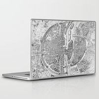 paris Laptop & iPad Skins featuring Paris map  by Le petit Archiviste