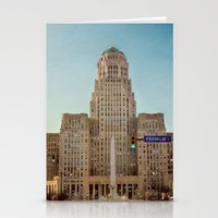 Down Town City Hall Buffalo NY  Color Stationery Cards