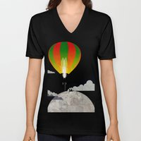 Picnic In A Balloon On T… Unisex V-Neck