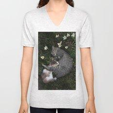 Sleep [A CAT AND A KITTEN] Unisex V-Neck