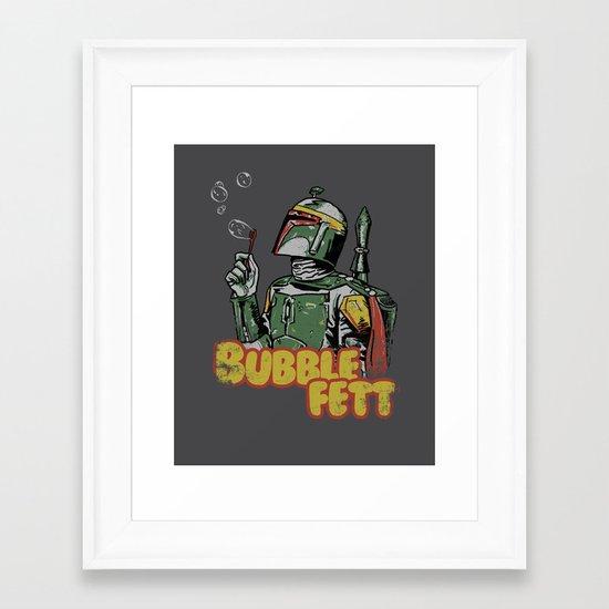 Bubble Fett Framed Art Print