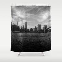 New York Skyline - Black… Shower Curtain