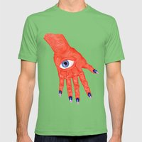 All-Seeing Nails Mens Fitted Tee Grass SMALL