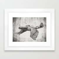 In which it's a bird. It's a plane. Framed Art Print
