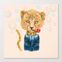 Cheetah Sailor Canvas Print