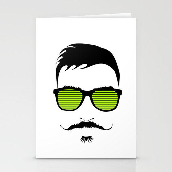 Mustache Stationery Card