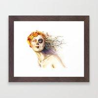 Lady Autumn Framed Art Print
