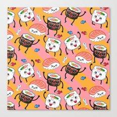 Sushi dance Canvas Print