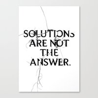 Nixon 02: Solutions Are Not The Answer Canvas Print