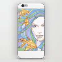 Mermaids are Dreaming iPhone & iPod Skin
