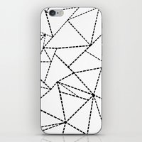 Abstract Dotted Lines Black and White iPhone & iPod Skin