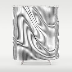 Minimal Curves Shower Curtain