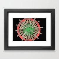 radial blame V Framed Art Print