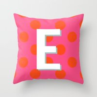 E Custom Listing Throw Pillow