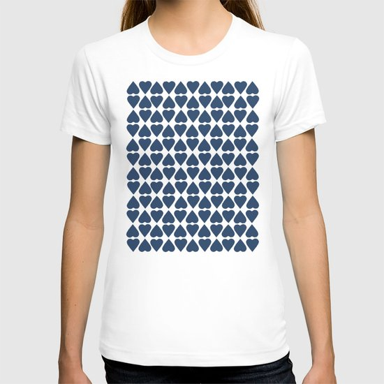 Diamond Hearts Repeat Navy T-shirt