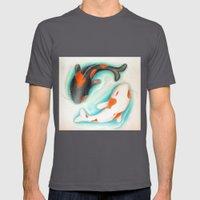 Coy Fish (Yin & Yang) Mens Fitted Tee Asphalt SMALL
