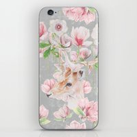Deer Head & Magnolia's  iPhone & iPod Skin