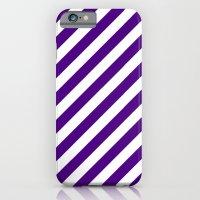 Diagonal Stripes (Indigo/White) iPhone 6 Slim Case