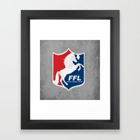 Fantasy Football League Framed Art Print