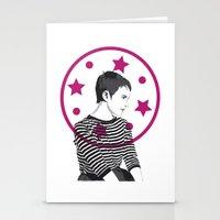 Jean Seberg//Black & Whi… Stationery Cards