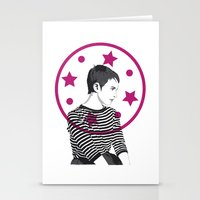 Jean Seberg//Black & White Stationery Cards