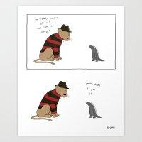 Freddy Cougar  Art Print