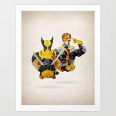 Polygon Heroes - Xmen Art Print