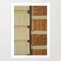 Brick Split Art Print