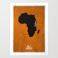 Help Somalia Art Print