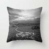 The Coastguard Cottages Throw Pillow