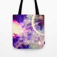 Space Mandala Purple Tote Bag