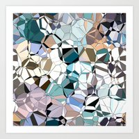Abstract Geometric Shapes Art Print