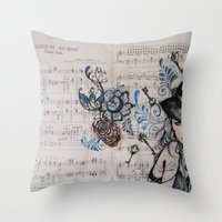 Chanson Russe Throw Pillow