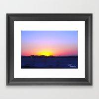 Cali Sunset Framed Art Print