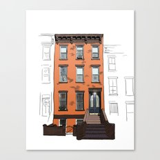 Brooklyn Brownstone Canvas Print