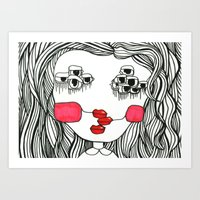 Monster With Cheeks Art Print