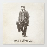 The Man Guitar Cat Canvas Print