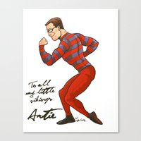 ARTIE! The Strongest Man… Canvas Print