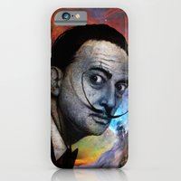 iPhone Cases featuring Salvador Dalí. (colored version) by Barruf