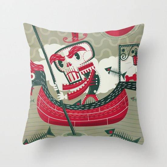 Calaverita Throw Pillow