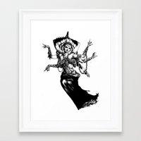 Framed Art Print featuring Goddess - Kali by Suarez Art