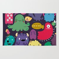 Colorful creatures Rug