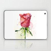 Rose Watercolor Flower Painting Laptop & iPad Skin