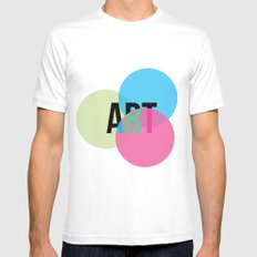 ART SMALL Mens Fitted Tee White