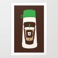 The Coffee Stacker Art Print
