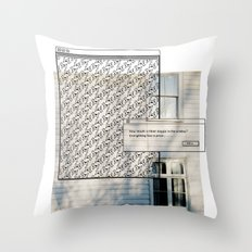 Pixel Screencapture - How Much Is The Doggie In The Window? Throw Pillow