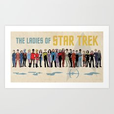 Ladies of Star Trek Art Print